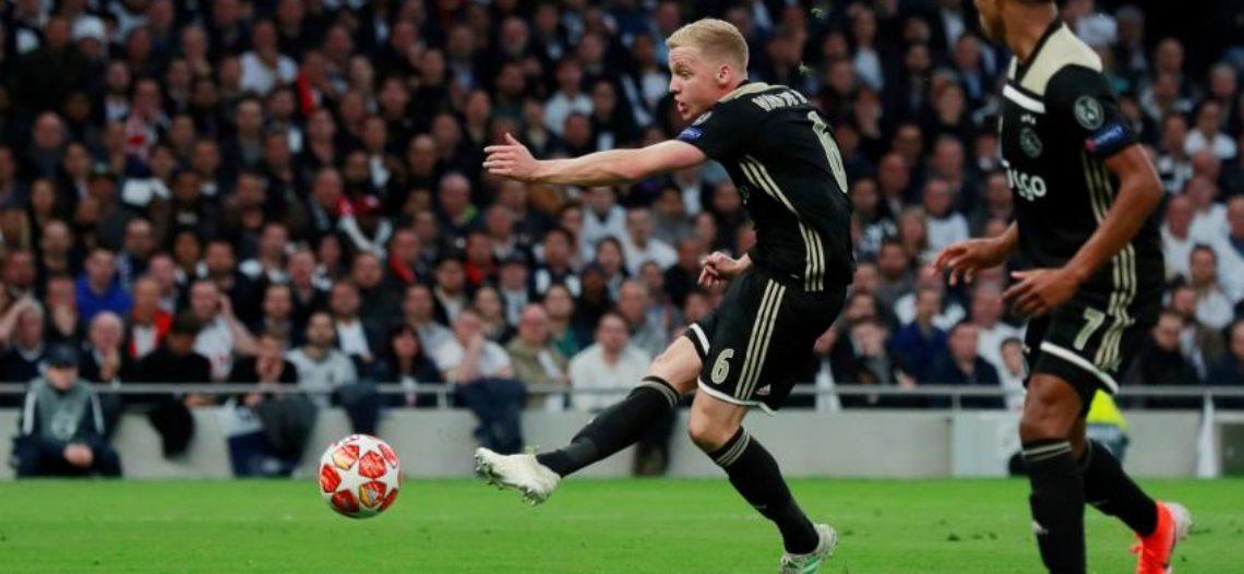 Ajax vence a Tottenham en semifinal de ida de la Champions League