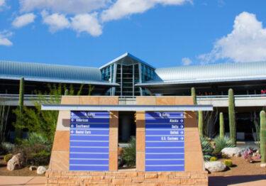 Trabajos de construcción en Tucson International Airport